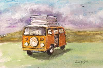gina_wright_orange_vw_poptop_watercolour_wax_pastel.jpg
