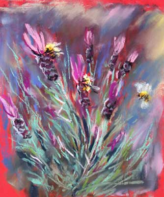 gina_wright_bees_on_lavender_pastel.jpg