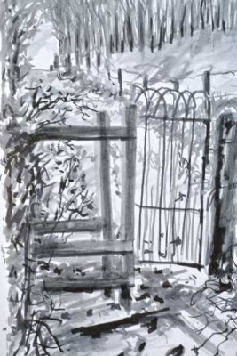 gina_wright_sketch_of_gate_and_path