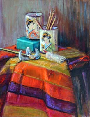 gina_wright_still_life_with_blue_box_mixed_media