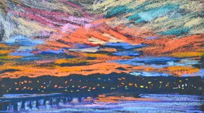 gina_wright_summer_sunset_study_pastel