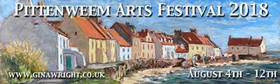 Banner advert for Pittenweem Arts Festival 2018