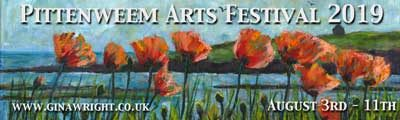 Banner advert for Pittenweem Arts Festival 2019