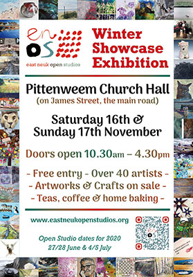 Poster to advertise the ENOS winter showcase exhibition
