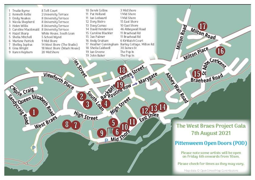 Map of Open Doors Venues